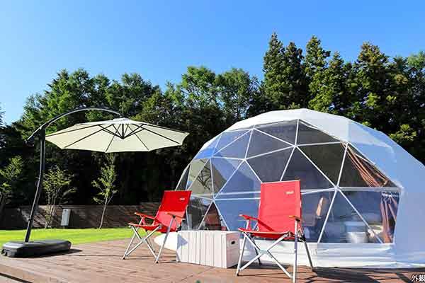 Dome tent at Mt.shakushi gateway camp