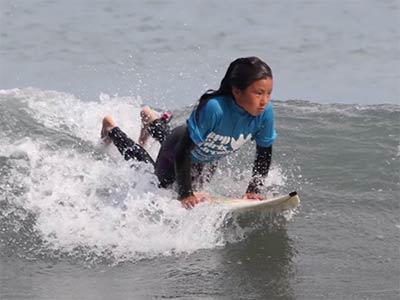Matsuda Shino surfin