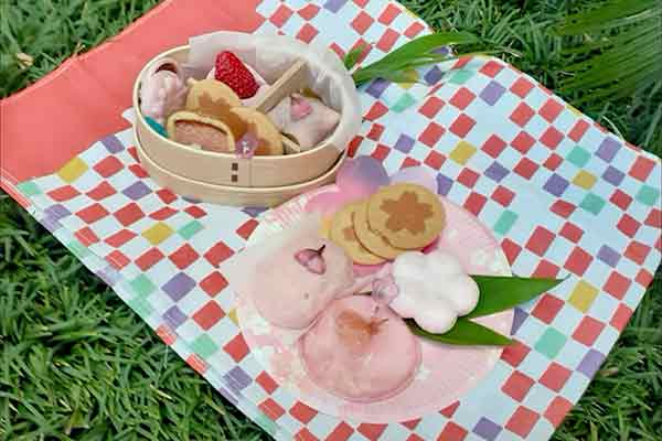 hanami with sweets