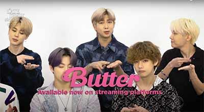"""BTS hand gesture """"spredding butter"""""""
