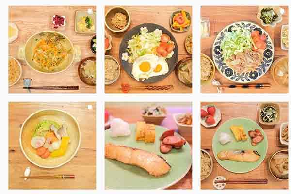 Meals from Kimura Fumino's instagram
