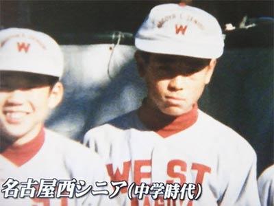 Inaba Atsunori at junior high school
