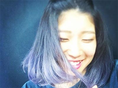 Nonaka Mihou with purple hair