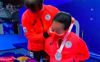 山田美幸選手 パラリンピク表彰式