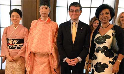 河野香夫人とベルギー大使