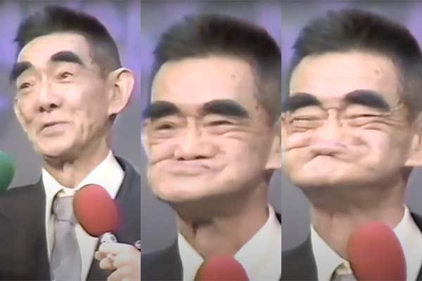 くしゃおじさんの顔3段階