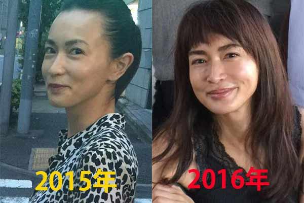 長谷川京子2015年と2016年