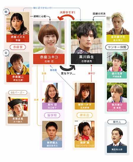 ドラマ「恋です!ヤンキー君と白状ガール」のキャスト・相関図